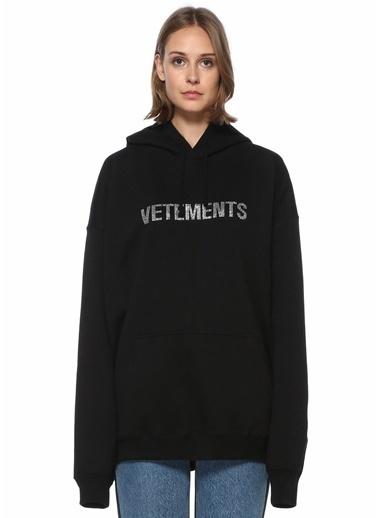 Vetements Vetements  Kapüşonlu Logolu Sweatshirt 101524433 Siyah